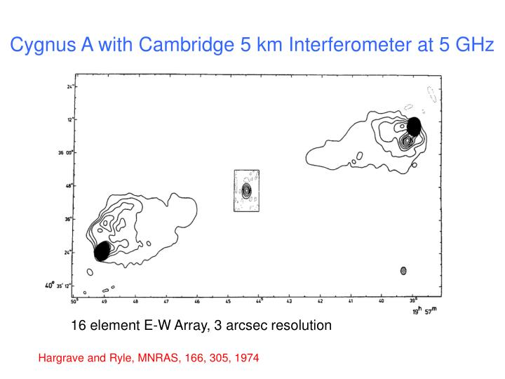 Cygnus A with Cambridge 5 km Interferometer at 5 GHz
