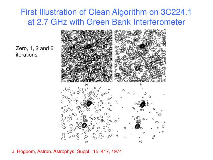 First Illustration of Clean Algorithm on 3C224.1