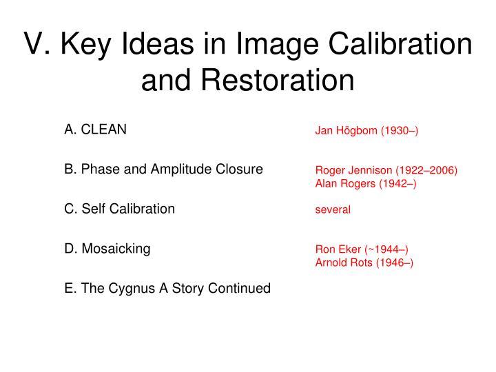 V. Key Ideas in Image Calibration and Restoration