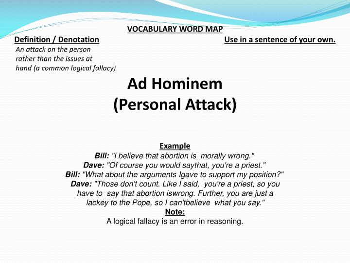 VOCABULARY WORD MAP