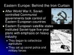 eastern europe behind the iron curtain