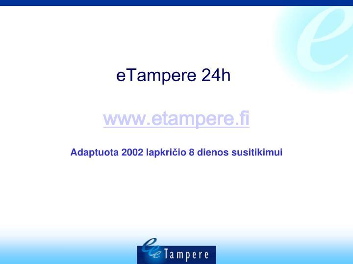 eTampere 24h