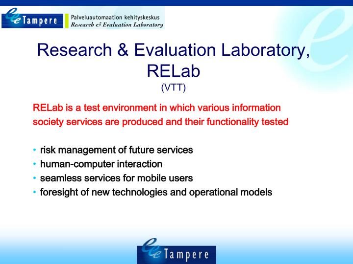 Research & Evaluation Laboratory, RELab