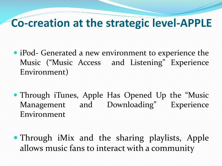 Co-creation at the strategic level-APPLE