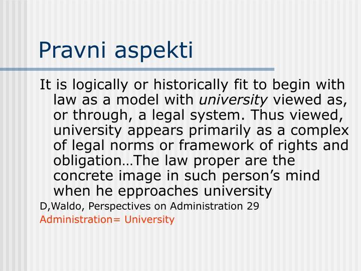 Pravni aspekti
