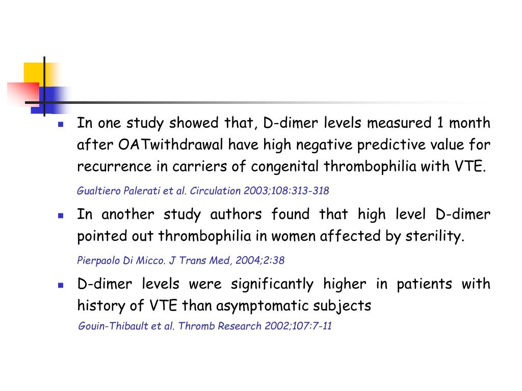 what can cause elevated d dimer