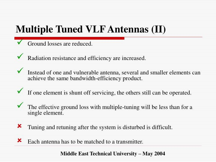 Multiple Tuned VLF Antennas (II)