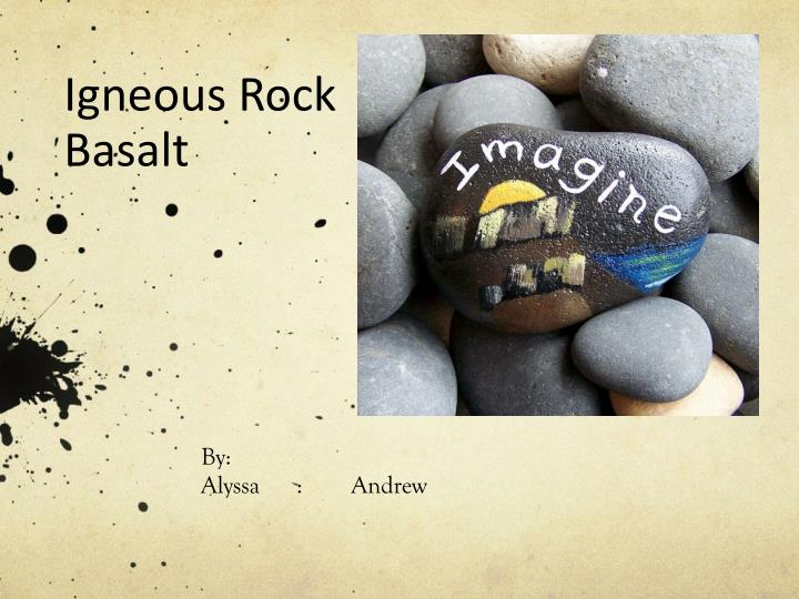igneous rock basalt n.