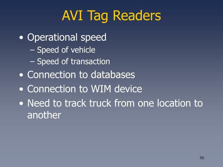 AVI Tag Readers