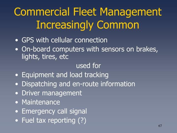 Commercial Fleet Management Increasingly Common