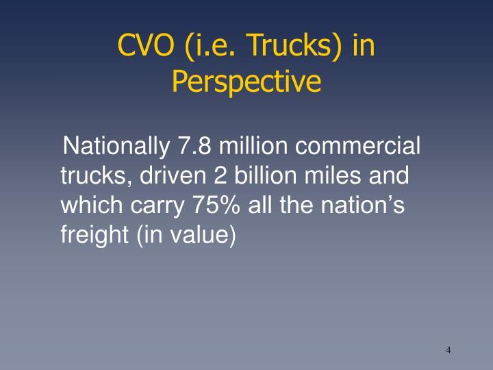CVO (i.e. Trucks) in Perspective