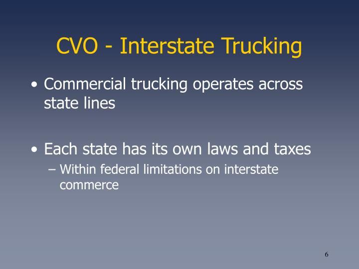 CVO - Interstate Trucking