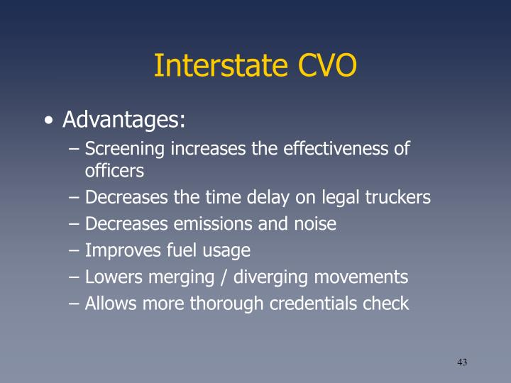 Interstate CVO