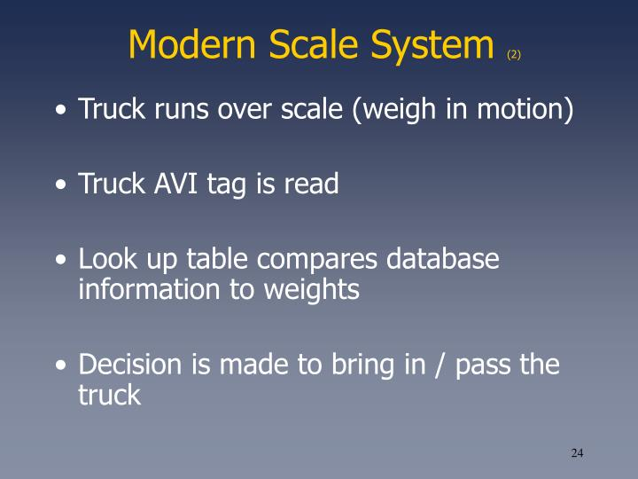 Modern Scale System