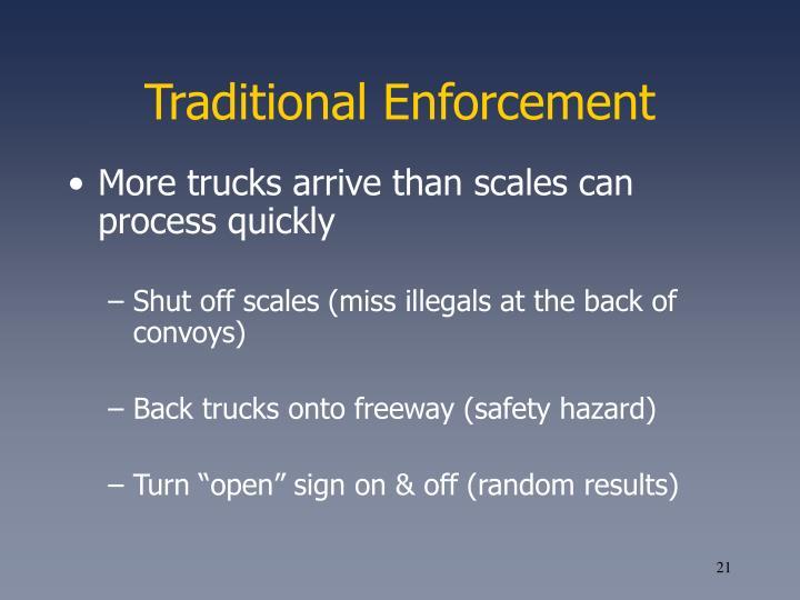 Traditional Enforcement