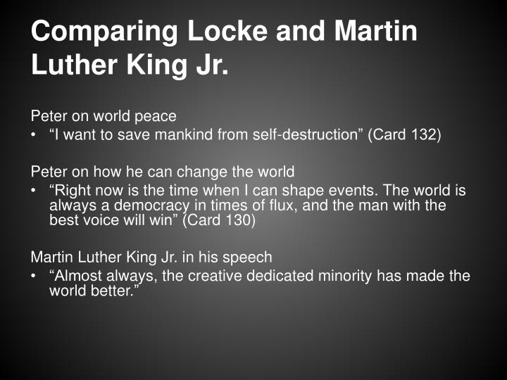 Comparing Locke and Martin Luther King Jr