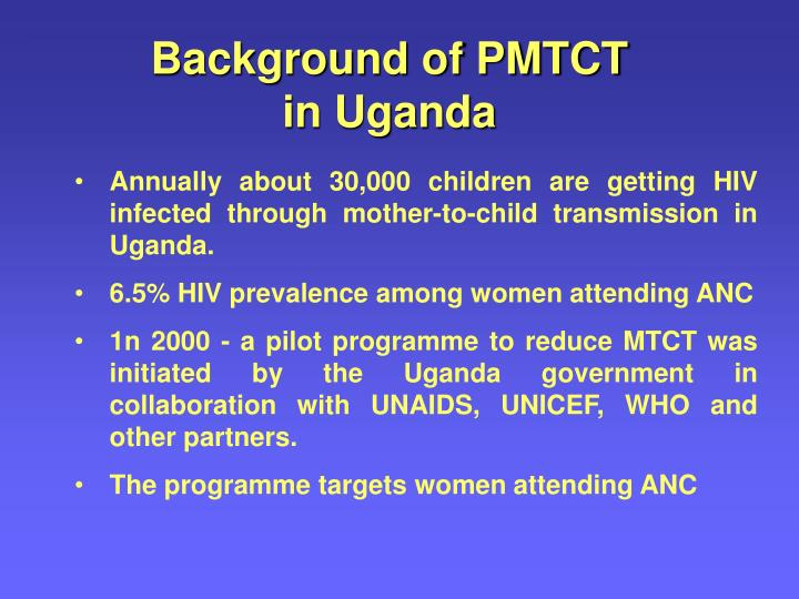 Background of PMTCT in Uganda