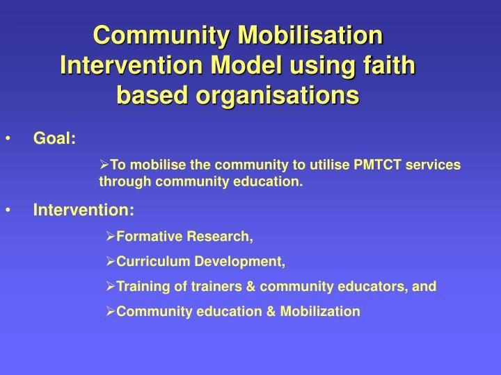 Community Mobilisation Intervention Model using faith based organisations