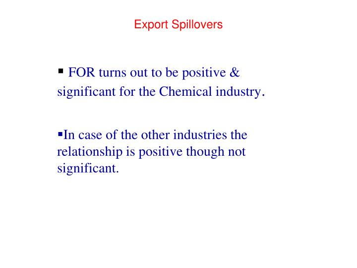 Export Spillovers