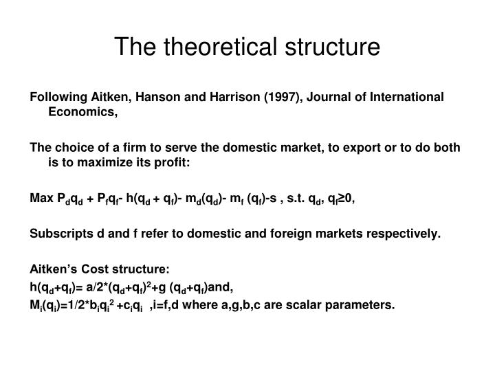 The theoretical structure
