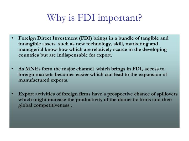 Why is fdi important