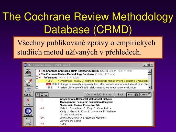 The Cochrane Review Methodology Database