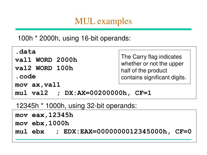 MUL examples