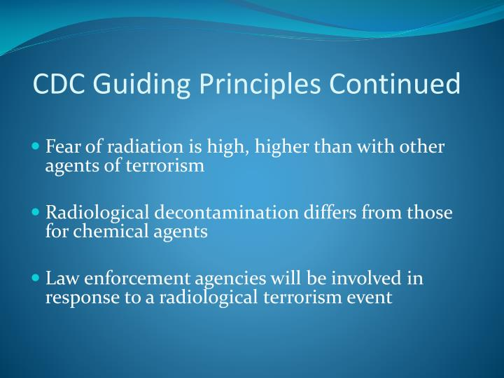 CDC Guiding Principles Continued