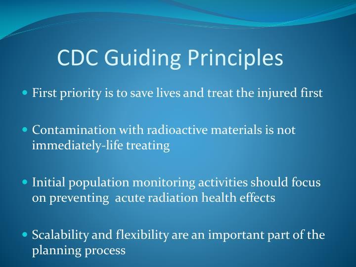 CDC Guiding Principles