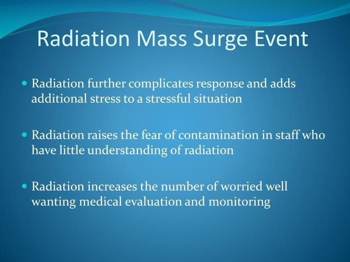 Radiation Mass Surge Event
