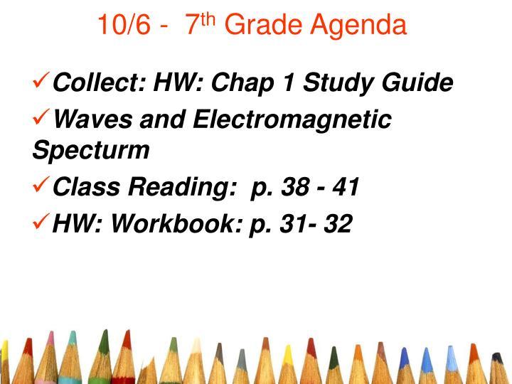 10 6 7 th grade agenda n.