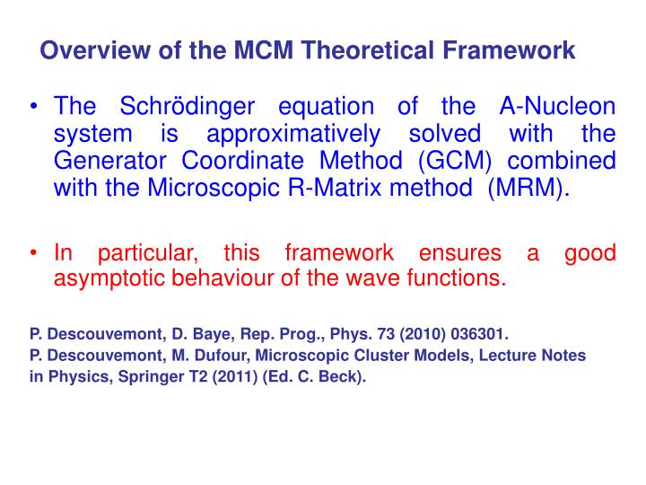 Overview of the MCM Theoretical Framework