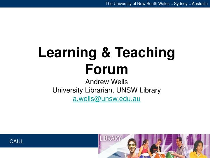 The University of New South Wales :: Sydney :: Australia
