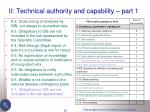 ii technical authority and capability part 1