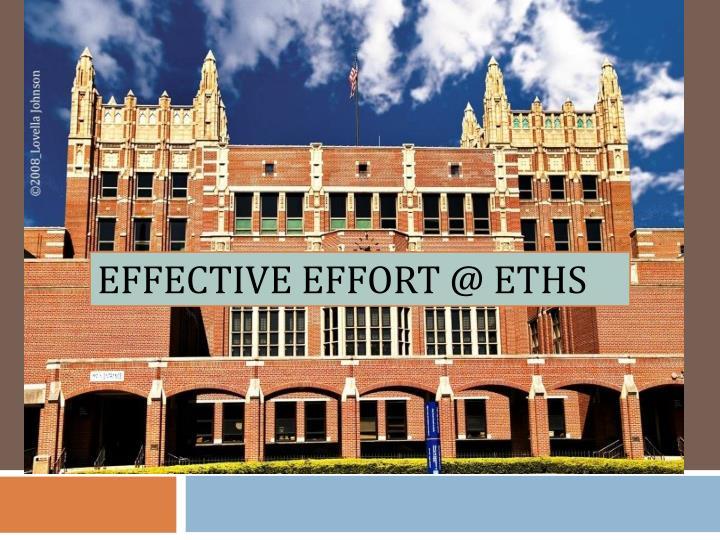 effective effort @ eths n.