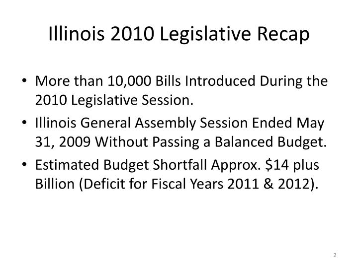 Illinois 2010 legislative recap