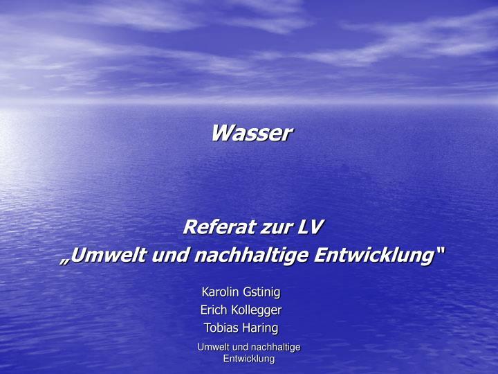 wasser n.