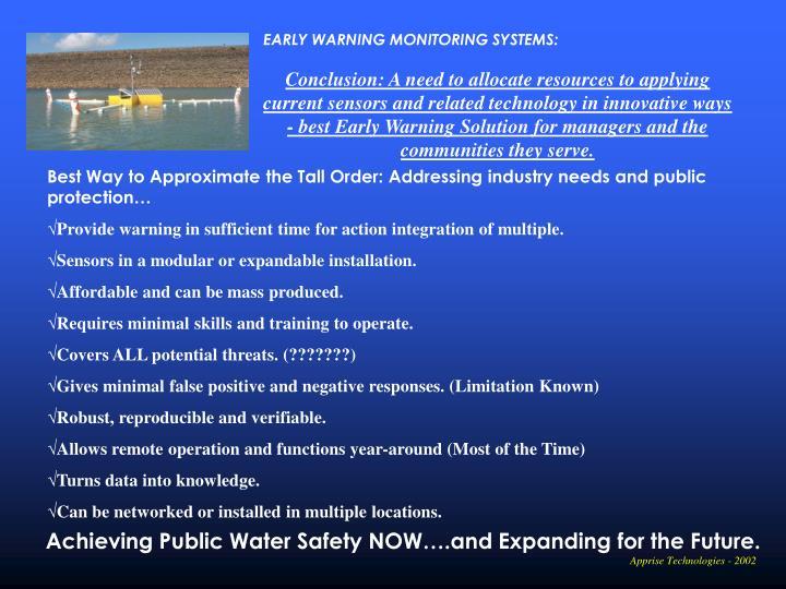EARLY WARNING MONITORING SYSTEMS: