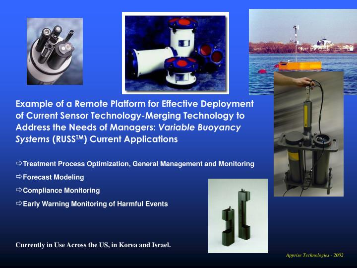 Example of a Remote Platform for Effective Deployment of Current Sensor Technology-Merging Technology to Address the Needs of Managers: