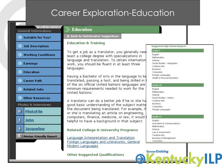 Career Exploration-Education