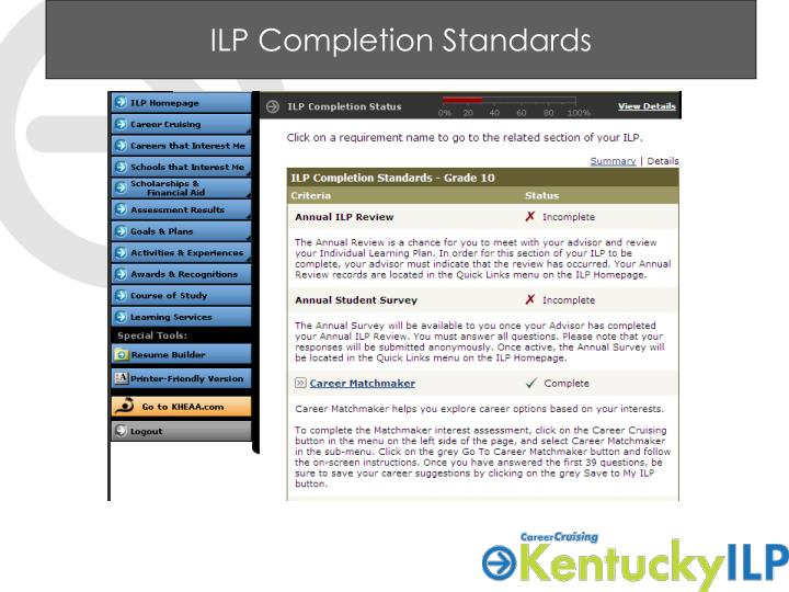 ILP Completion Standards
