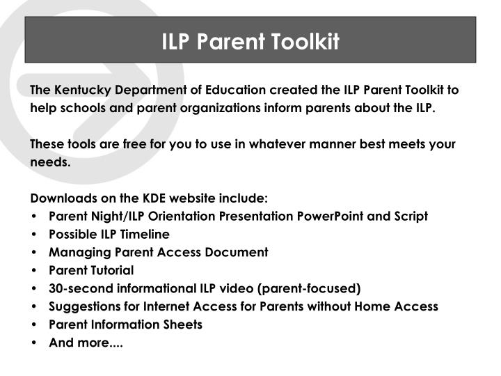 ILP Parent Toolkit