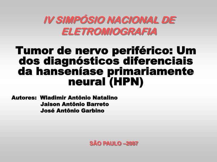 iv simp sio nacional de eletromiografia n.