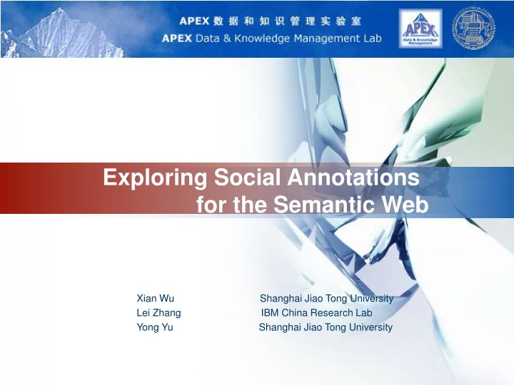 exploring social annotations for the semantic web n.