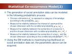 statistical co occurrence model 2