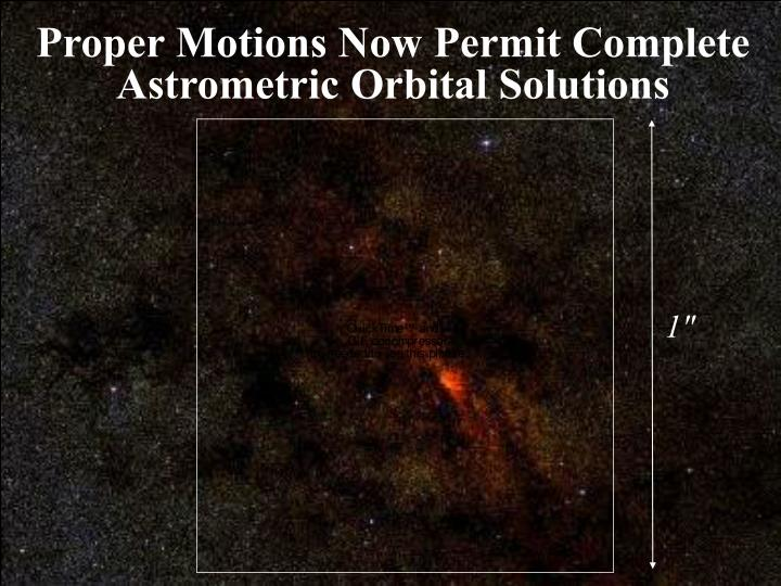 Proper Motions Now Permit Complete Astrometric Orbital Solutions