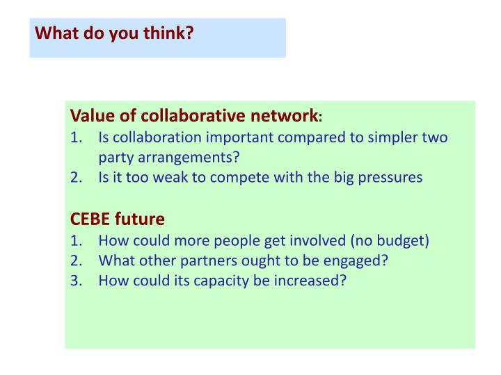 Value of collaborative network
