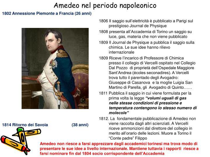 1802 Annessione Piemonte a Francia (26 anni)