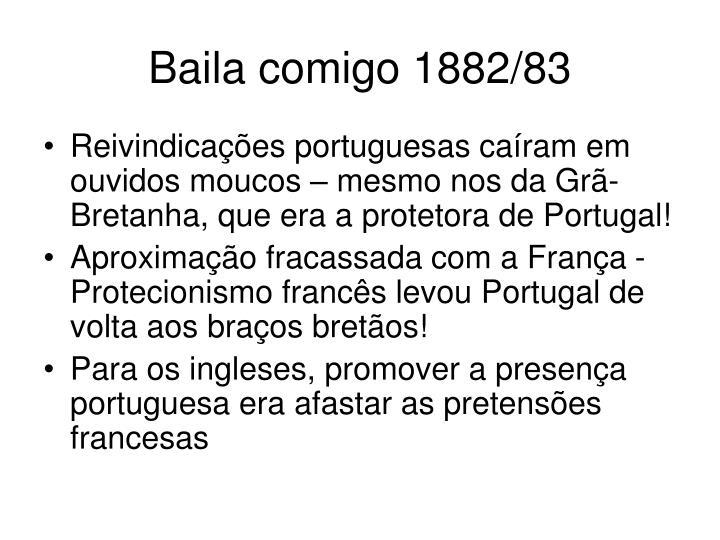 Baila comigo 1882/83