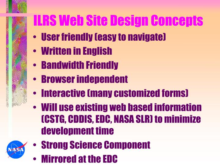 Ilrs web site design concepts